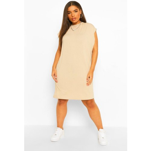 Plus Shoulder Pad T-Shirt Dress - boohoo - Modalova