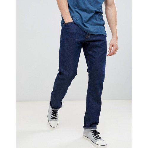 Jeans Sale - Calvin Klein Jeans - Gerade geschnittene Jeans mit Logo-Aufnäher hinten - Blau