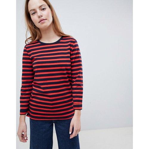 Sweatshirt & Hoodie im Sale - Only - Anya - Gestreiftes Sweatshirt mit 3/4 langen Ärmeln - Navy