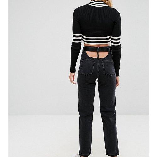 Jeans im Sale - ASOS TALL - Gerade geschnittene Jeans mit hohem Bund