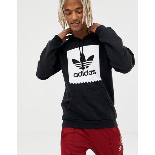 Sweatshirt & Hoodie im Sale - adidas - Skateboarding - Schwarzer Kapuzenpullover mit Blackbird-Logo