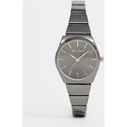 Uhr Sale - Bellfield - Schlanke Damenarmbanduhr in metallischem Blaugrau - Grau