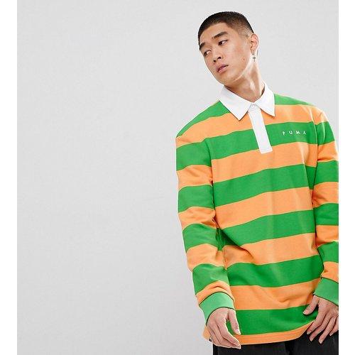 Sweatshirt & Hoodie Sale - Puma - Gestreifter Pullover - Grün