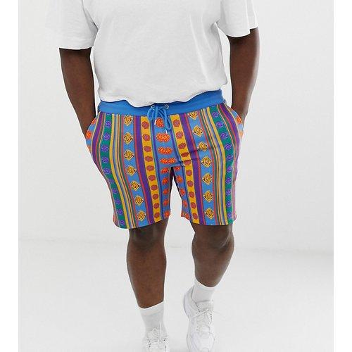 d9b76c8783c1b6 ASOS DESIGN Plus - Enge Jersey-Shorts mit Rosen- und Streifen-Print -  Mehrfarbig | Kleidung günstig kaufen | foccz.com