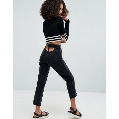 Jeans im Sale - ASOS - Gerade geschnittene Jeans mit hohem Bund