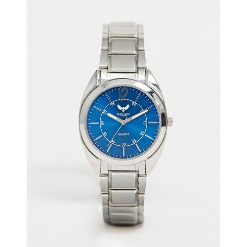 Uhr Sale - Brave Soul - Herren-Armbanduhr mit blauem Zifferblatt - Silber