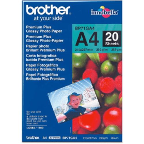 Brother Brother BP71GA4 Original A4 Premium Plus Glossy Photo Paper 260g x20