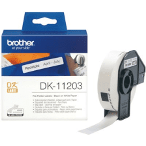 Brother Brother DK-11203 Original 17mm x 87mm P-Touch Labels x300