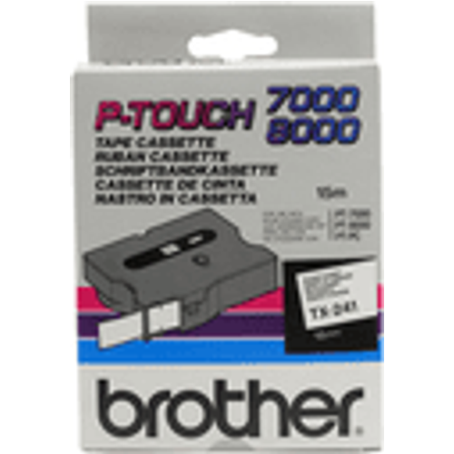 Brother Brother TX-241 Original P-Touch Black on White Tape 18mm x 15m