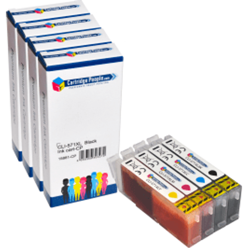 Canon Compatible Canon CLI-571XL BK/C/M/Y Black & Colour High Capacity Ink Cartridge 4 Pack (Own Brand)