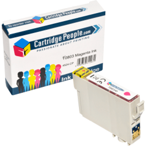 Epson Compatible Epson T0803 Magenta Ink Cartridge (Own Brand)