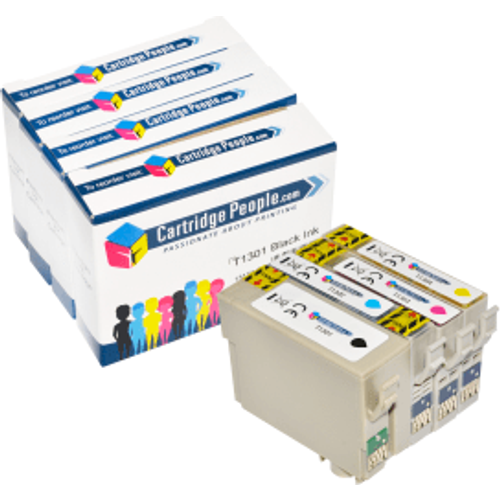 Epson Compatible Epson T130 (BK/C/M/Y) Black & Colour Extra High Capacity Ink Cartridge 4 Pack (Own Brand)