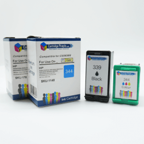 HP Compatible HP 339 / 344 High Capacity Black & Colour Ink Cartridge Pack (Own Brand)