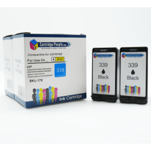 HP Compatible HP 339 High Capacity Black Ink Cartridge Twinpack (Own Brand)