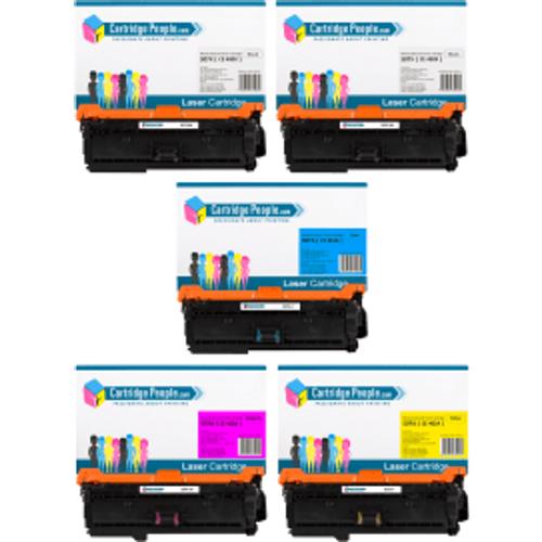 HP Compatible HP 507 (CE400X / CE401A / CE402A / CE403A) Black and Colour Toner Cartridge 5 Pack (Own Brand)