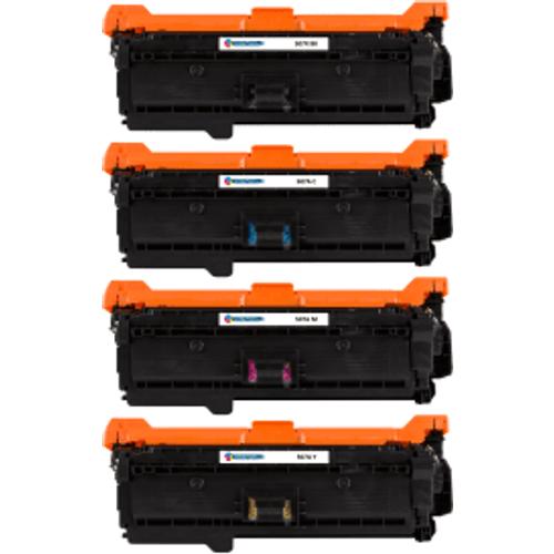 HP Compatible HP 507 (CE400X / CE401A / CE402A / CE403A) Black and Colour Toner Cartridge Pack (Own Brand)