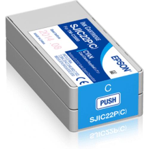 Epson Epson SJIC22P(C) Cyan Ink Cartridge (Original)