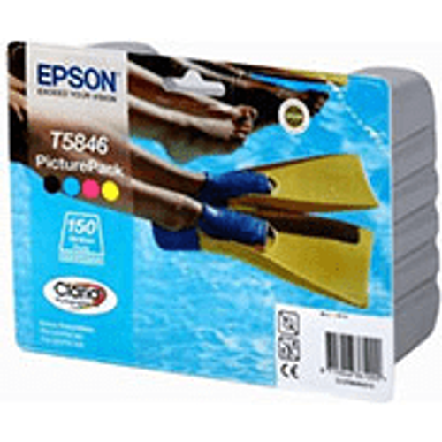 Epson Epson T5846 (C13T58464010) Original Ink Cartridge & Photo Paper Multipack