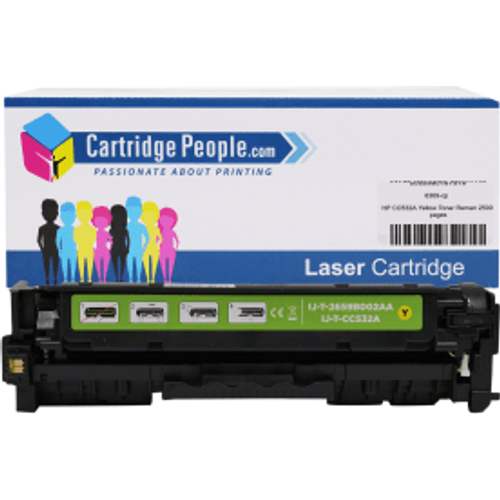 HP Compatible HP 304A Yellow Toner Cartridge (Own Brand) - CC532A