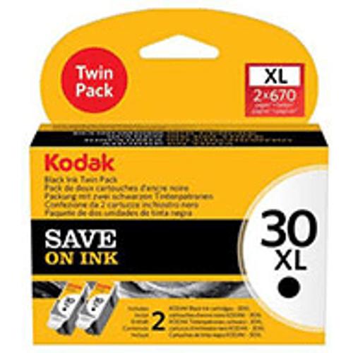 Kodak Kodak No.30XL / 3958048 Original High Capacity Black Ink Cartridge Twin Pack