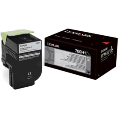Lexmark Lexmark 700H1 Black High Capacity Toner Cartridge (Original)