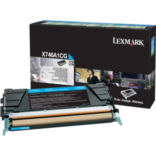 Lexmark Lexmark X748H1CG Cyan High Capacity Toner Cartridge (Original)