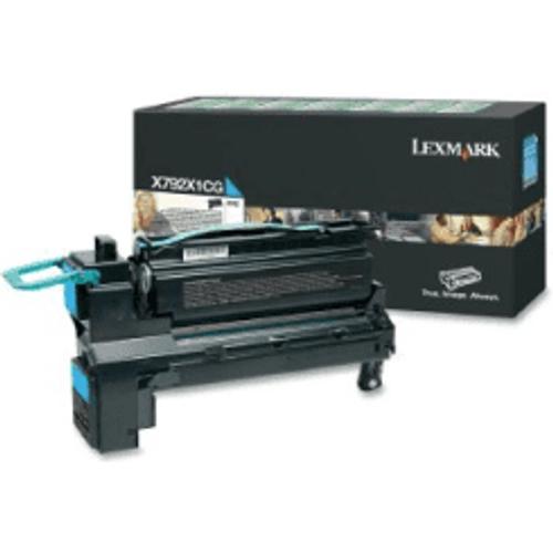 Lexmark Lexmark X792X1CG Cyan High Capacity Toner Cartridge (Original)