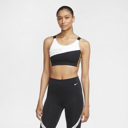 Brassière de sport métallisée à maintien normal Swoosh - Nike - Modalova