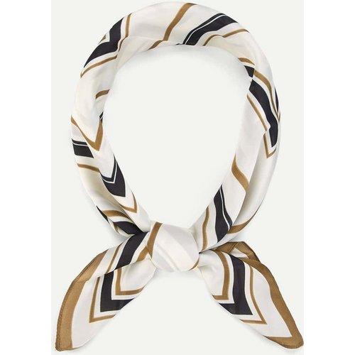 Foulard bandana à rayures - SHEIN - Modalova