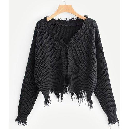 Pull déchiré tricot - SHEIN - Modalova