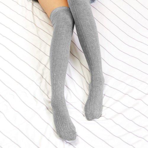 Chaussettes hautes unicolores - SHEIN - Modalova