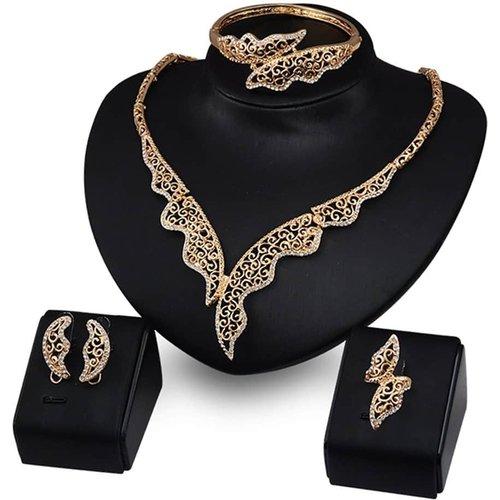 Collier creux & Bracelet & Bague & Boucles d'oreilles - SHEIN - Modalova