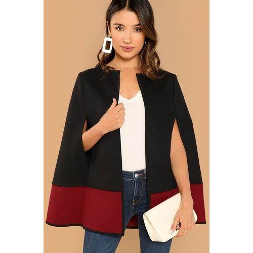 Manteau cape bicolore - SHEIN - Modalova