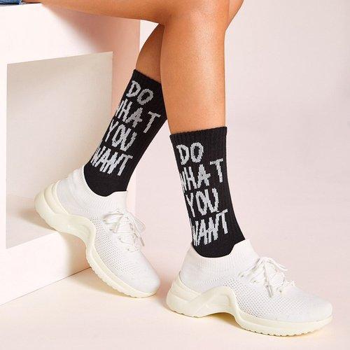 Chaussettes à motifs 1 paire - SHEIN - Modalova