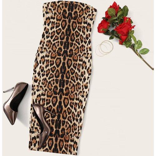 Robe bustier léopard - SHEIN - Modalova
