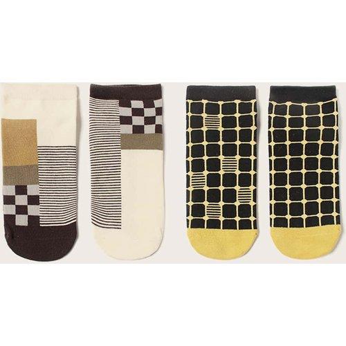 Paires Chaussettes à rayures & à carreaux - SHEIN - Modalova
