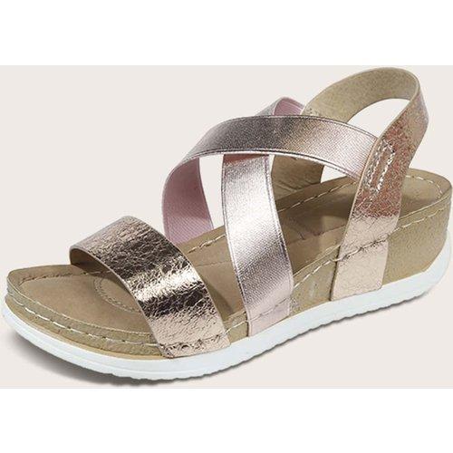 Chaussures compensées métalliques - SHEIN - Modalova