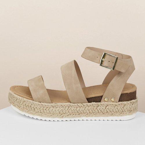 Chaussures Compensées Beige Bohème - SHEIN - Modalova