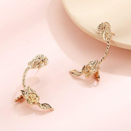 Boucles d'oreilles fleur en métal - SHEIN - Modalova