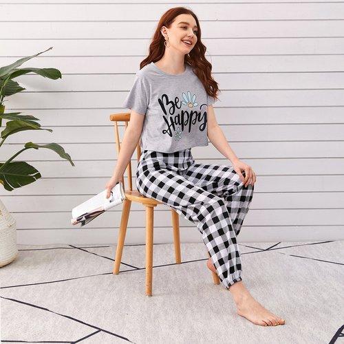 Ensemble de pyjama t-shirt & pantalon - SHEIN - Modalova