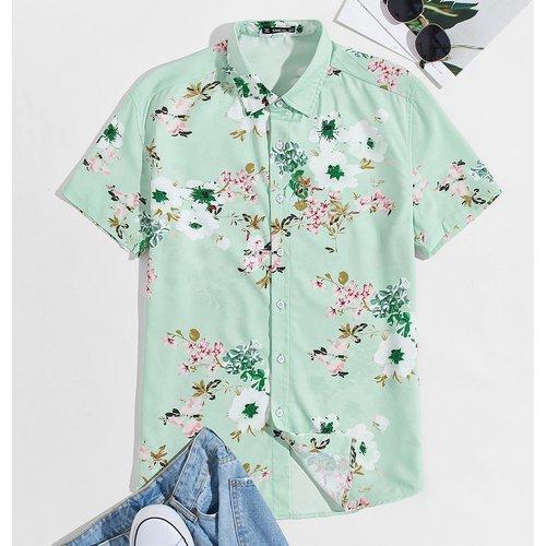 Chemise à imprimé fleur - SHEIN - Modalova