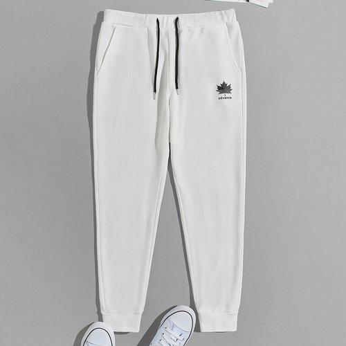 Pantalon de survêtement à imprimé - SHEIN - Modalova