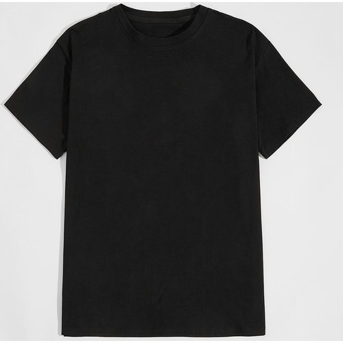 T-shirt à imprimé avec col rond - SHEIN - Modalova
