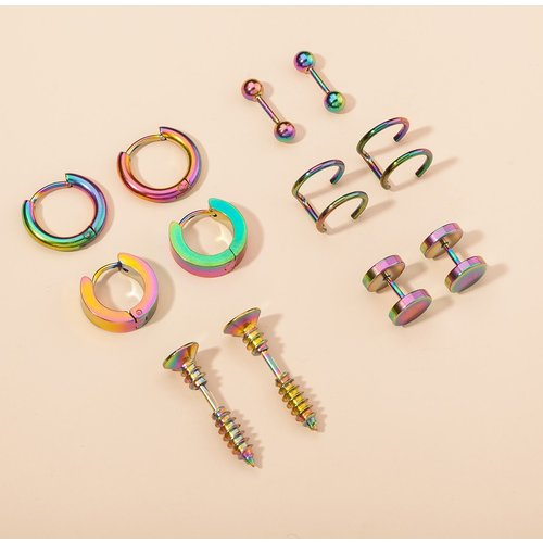 Paires Boucles d'oreilles versicolores - SHEIN - Modalova