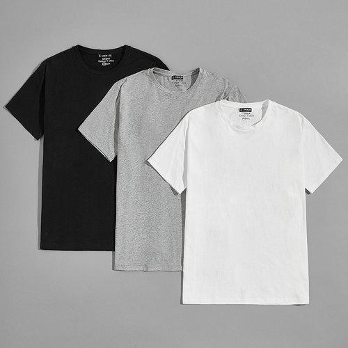 Pièces T-shirt col rond - SHEIN - Modalova