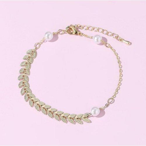 Bracelet avec fausse perle - SHEIN - Modalova
