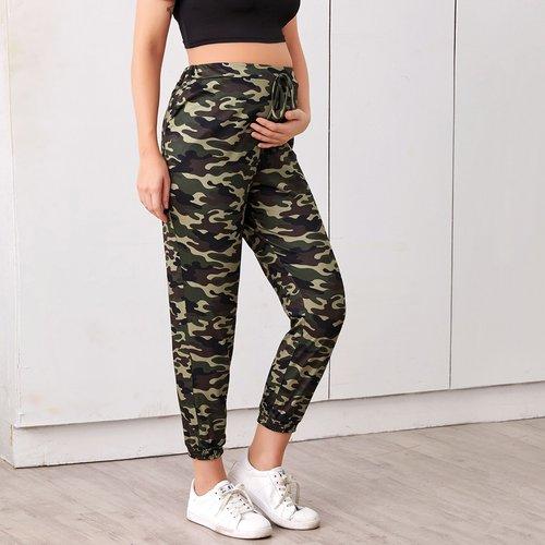 Pantalon de survêtement de grossesse à imprimé camouflage - SHEIN - Modalova