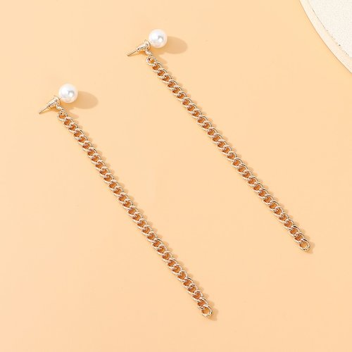 Boucles d'oreilles avec fausse perle - SHEIN - Modalova