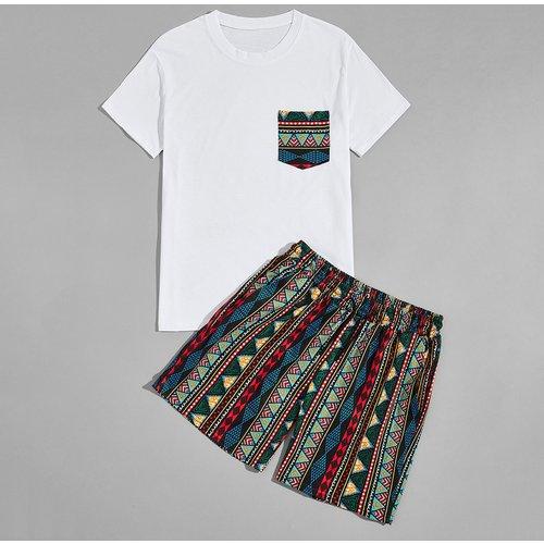T-shirt à imprimé & Short - SHEIN - Modalova