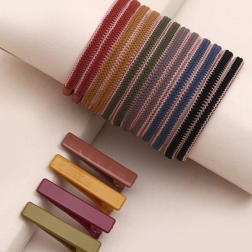 Pièces Pince à cheveux versicolore & Élastique à cheveux - SHEIN - Modalova